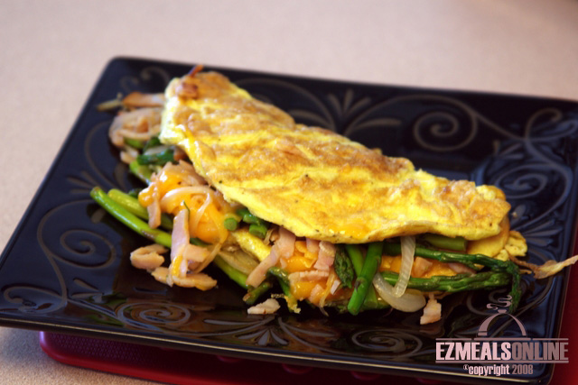 ASPARAGUS and TURKEY OMELETTE