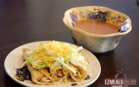 chicken tacos and soup